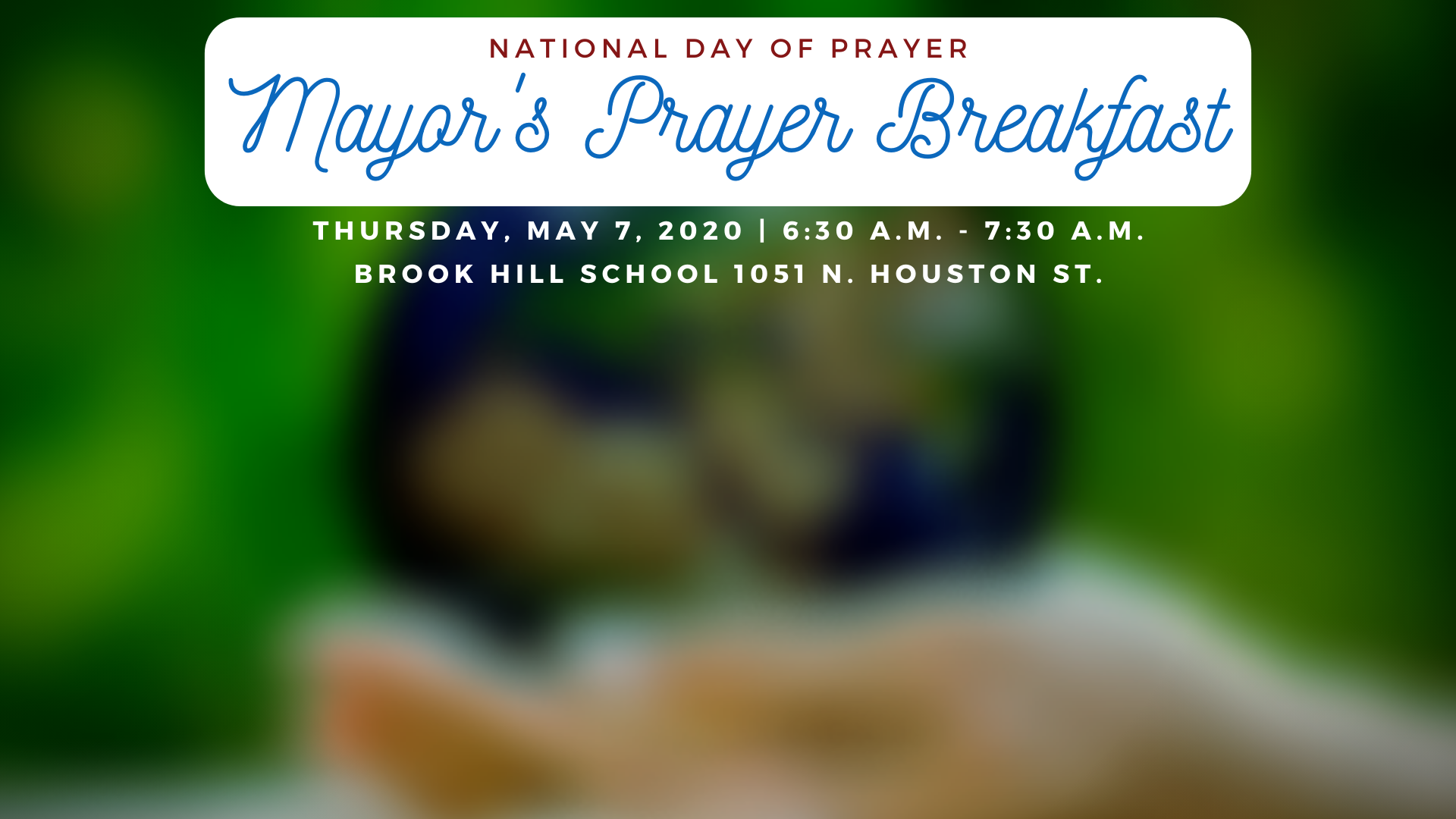 2020 Mayor's Prayer Breakfast